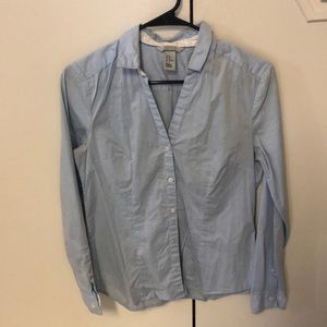 🛍2for25🛍 baby blue button down dress shirt